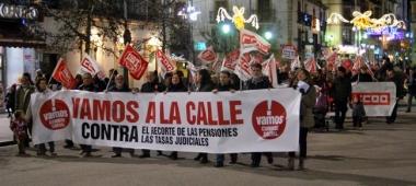 La manifestación en Mariano Granados