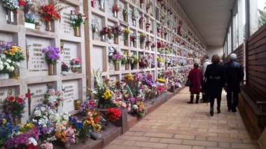 El cementerio en Todos los Santos
