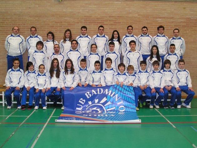 Foto familia del Club Badminton Soria