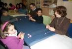 Niños y mayores en las actividades