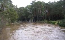 El río Duero se desborda a su paso por el municipio de Covaleda