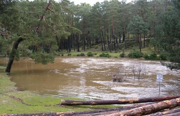 Desborde del río