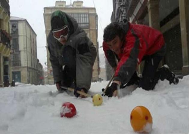 Billar sobre la nieve