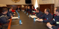 Los voluntarios en la Diputación