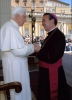 Benedicto XVI  y monseñor Melgar