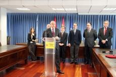 Delegado de la Junta con representantes de automoción