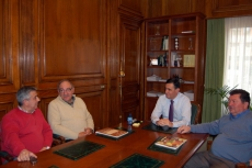 Reunión con los alcaldes de Santa María de las Hoyas y Fuentearmegil