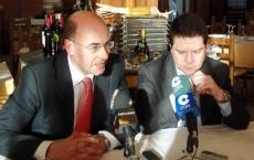 Alonso (izda.) y García Page