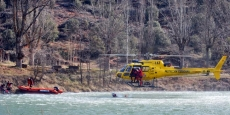 Uno los ejercicios realizados por el helicóptero de Protección Civil