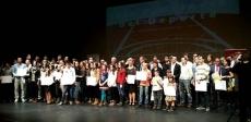 Los galardonados en la Audiencia
