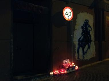 Altar con velas en el Rodeo