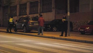 La Policía en el lugar del atropello