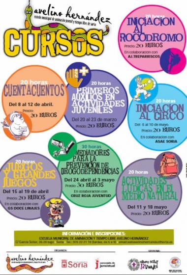 Cartel de los cursos