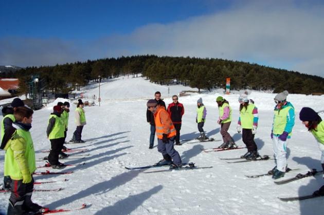 Inicio en la práctica del esquí