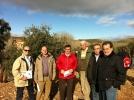Representantes de Diputación en una plantación trufera de Teruel