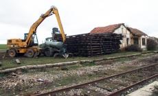 Desmentalamiento de vías en Tordesalas