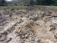 El suelo vegetal natural ha sido arrasado