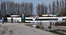 Zona inundada del campo de fútbol de Garray