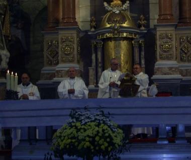Mons. Vicente Jiménez junto al Cardenal Bergoglio
