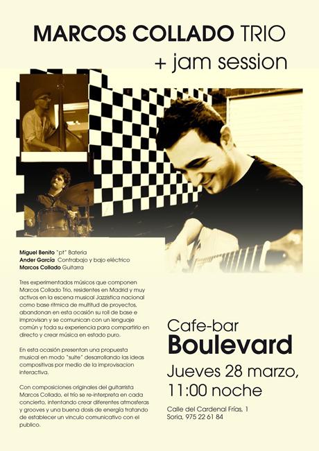 Cartel Marcos Collado Trio