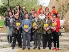 López y Abia con los autores del libro