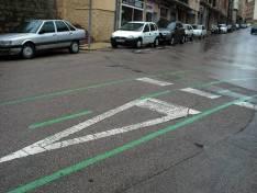 Líneas del vial para bicicletas