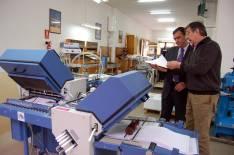 Pardo y San Juan en la imprenta.