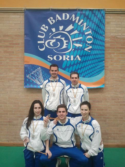 Medallistas sorianos de badminton