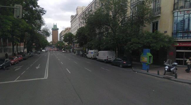 Confluencia de Lagasca con Goya (Madrid) donde se detuvo a los activistas