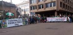 La manifestación en Granados
