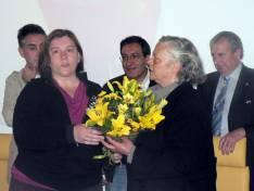 Reconocimiento a Isabel Goig  (derecha)