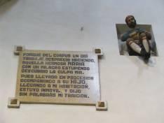 Inscripcion del milagro del zapatero