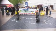 Protesta por el fracking en la Feria de Almazán