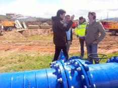 Mínguez y Antón visitan las obras