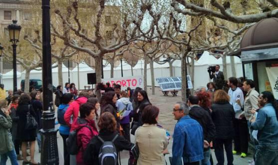 Concentración en la plaza de San Esteban
