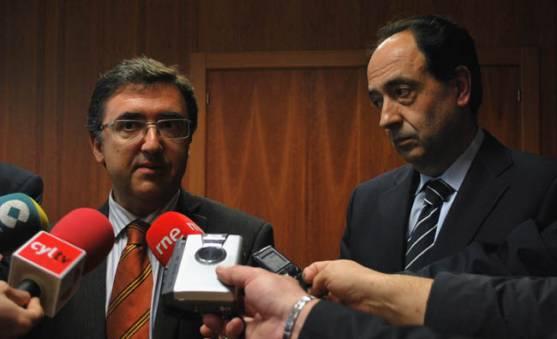 Marinero (izda.) y López