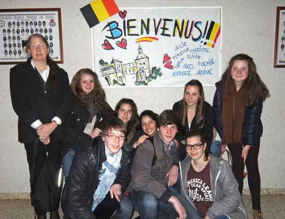 Alumnos belgas en Escolapias