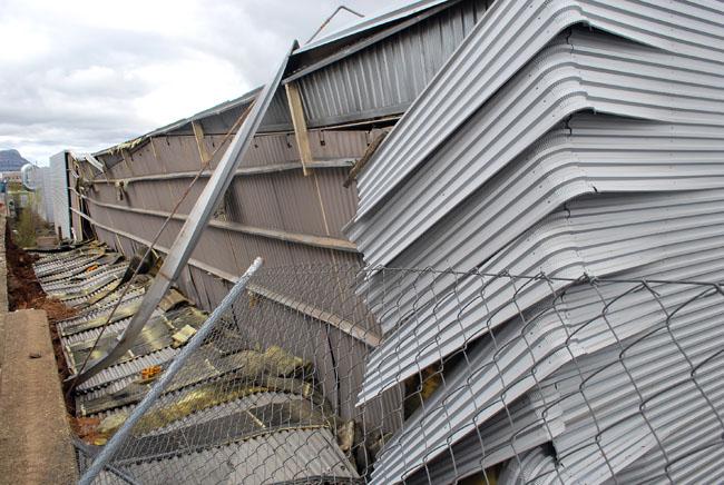 Imagen de la zona afectada por el derrumbe