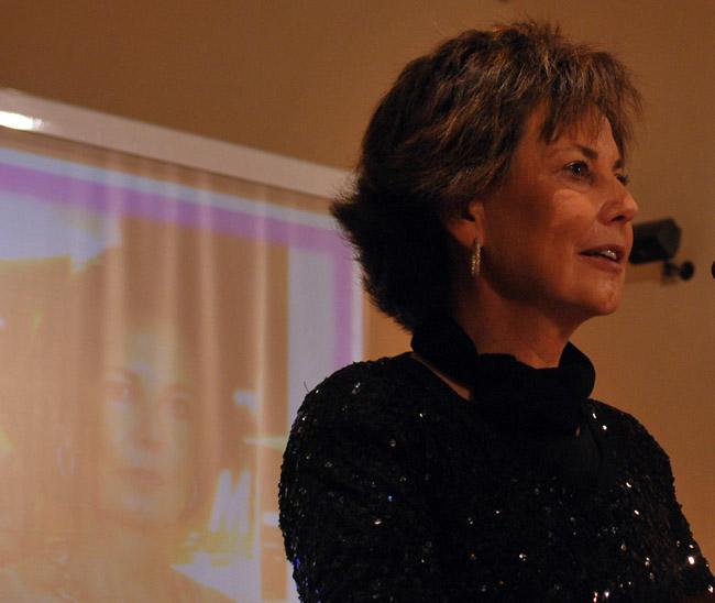Pilar Monreal en su discurso.