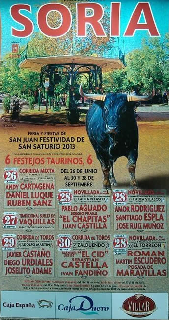 Cartel de la feria taurina 2013