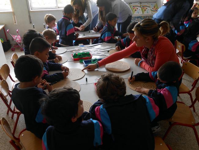 Taller de Numancia en Escolapias