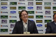 El entrenador en su presentación