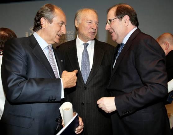 Herrera, (dcha.), Garrido y González.