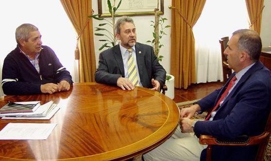 Vargas, (izda.), Vaquero y Martínez.
