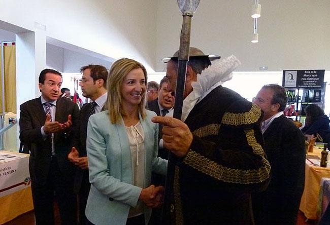 Alicia García, este jueves en Ávila.
