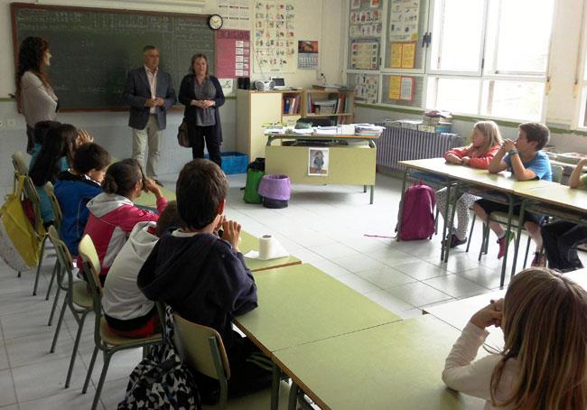 Entrega del premio a los alumnos