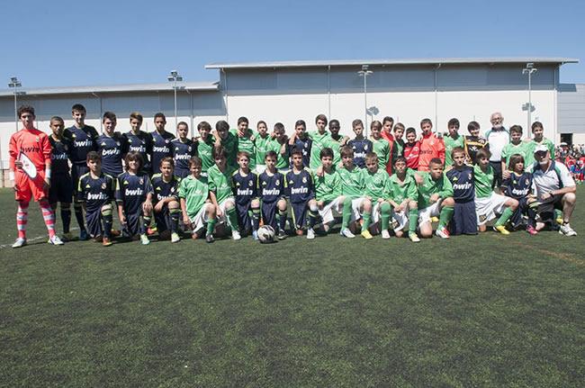 Jugadores Real Madrid y San José