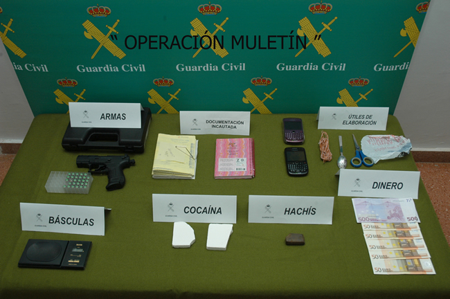 Armas, droga y dinero incautado