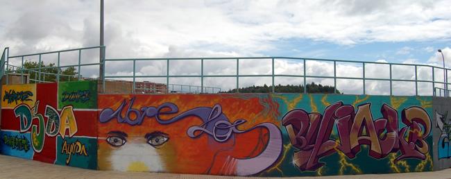 Mural de las pistas de skate