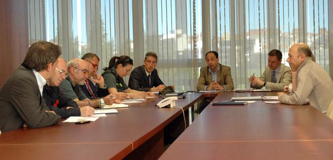 Reunión en la Delegación Territorial.